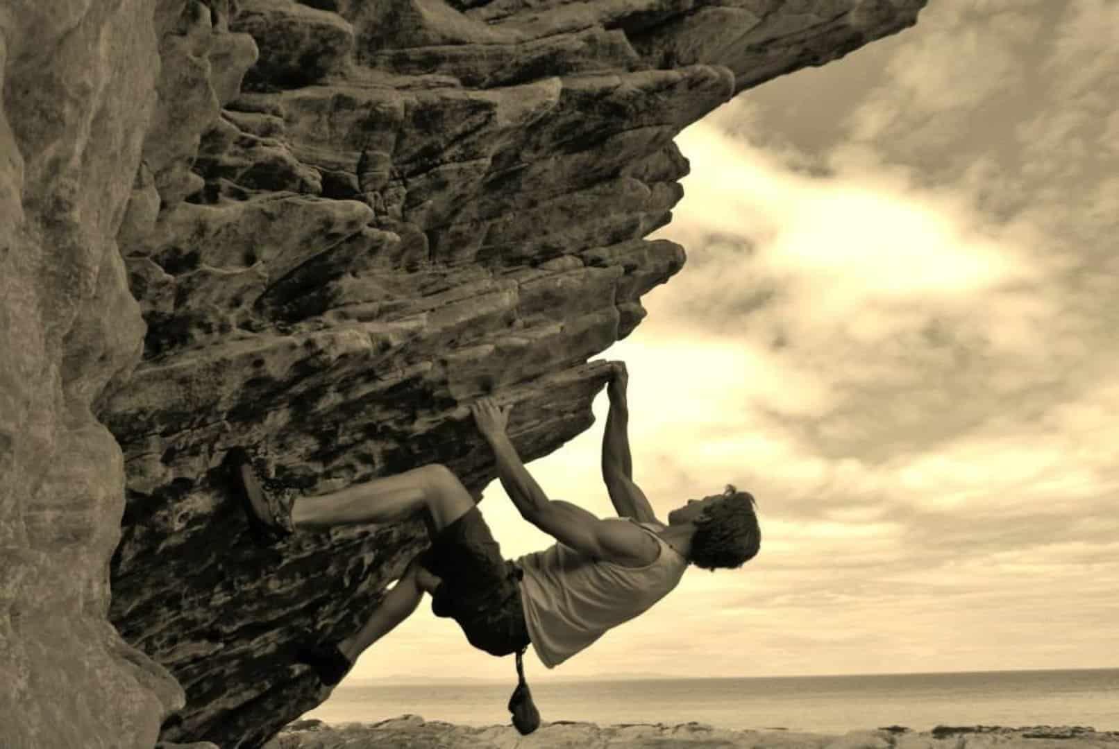 Outdoor bouldering climbing