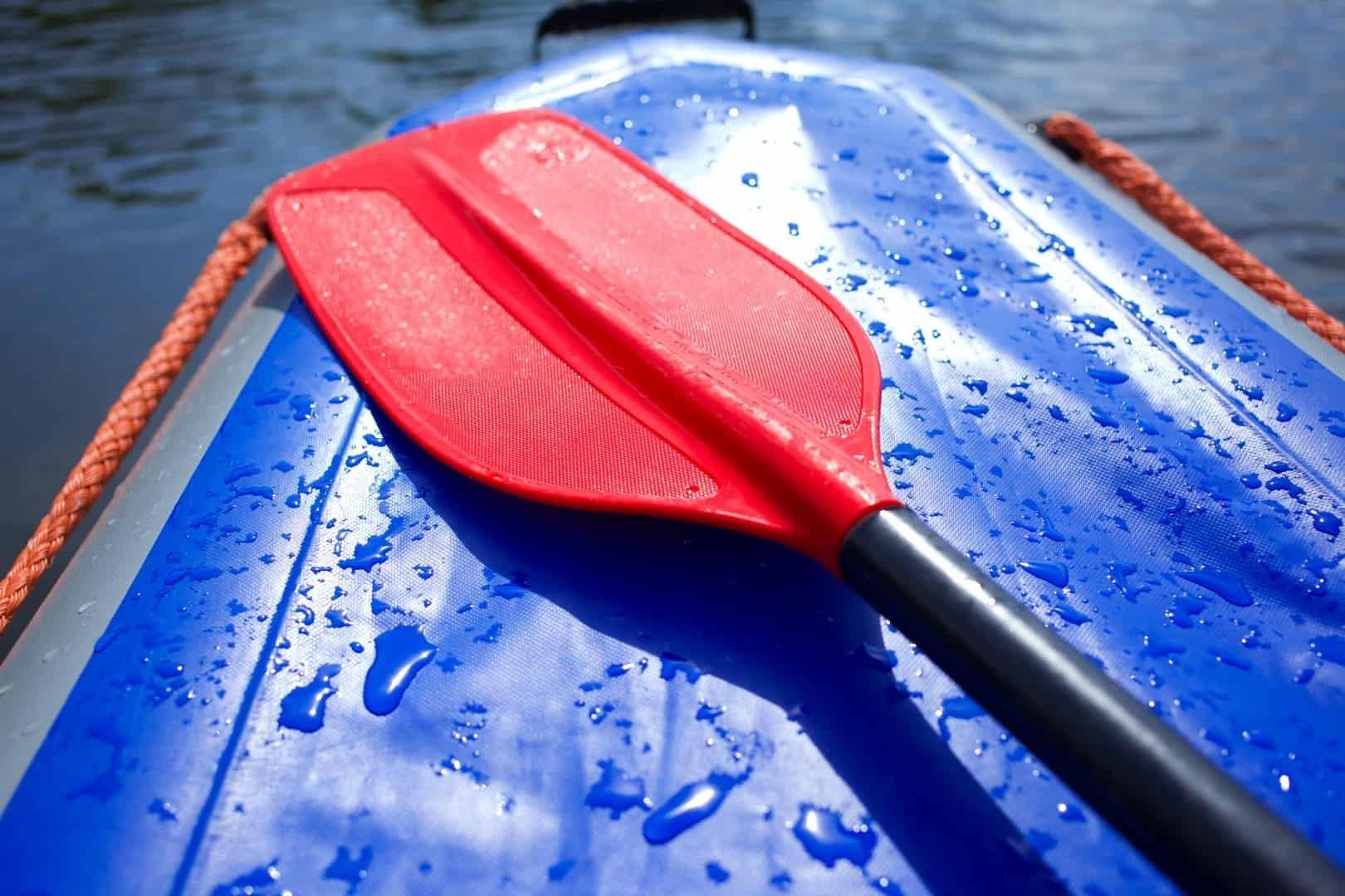 Red Kayak Paddle