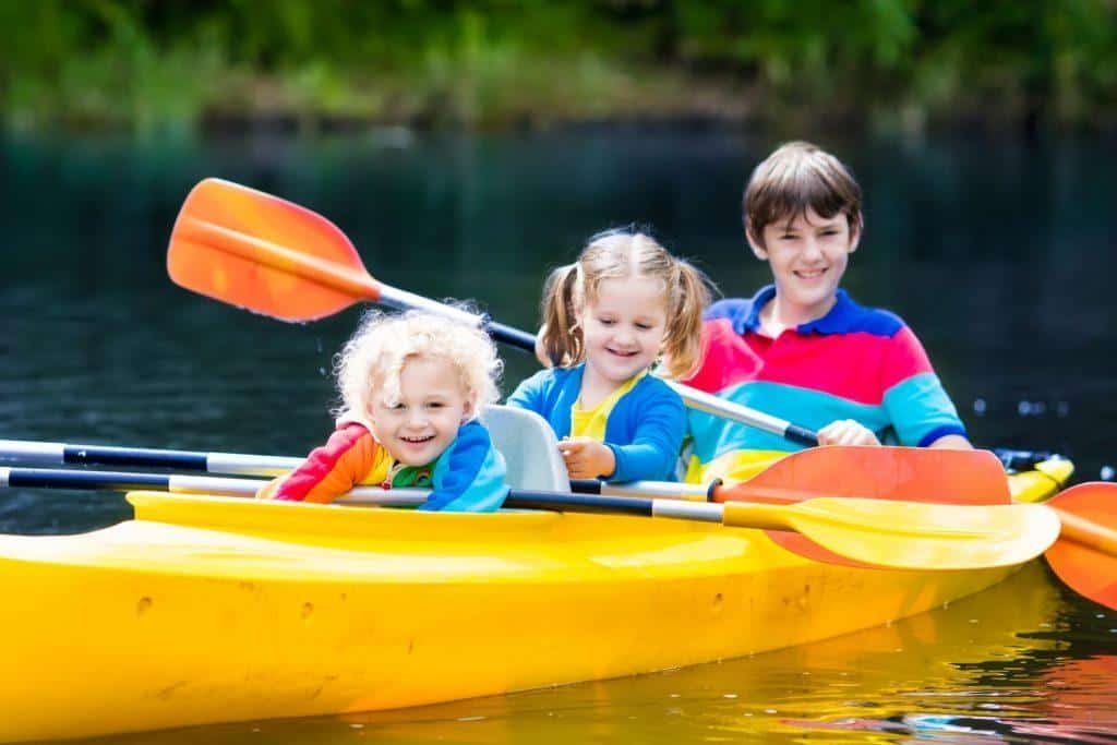 Kayaking with toddlers