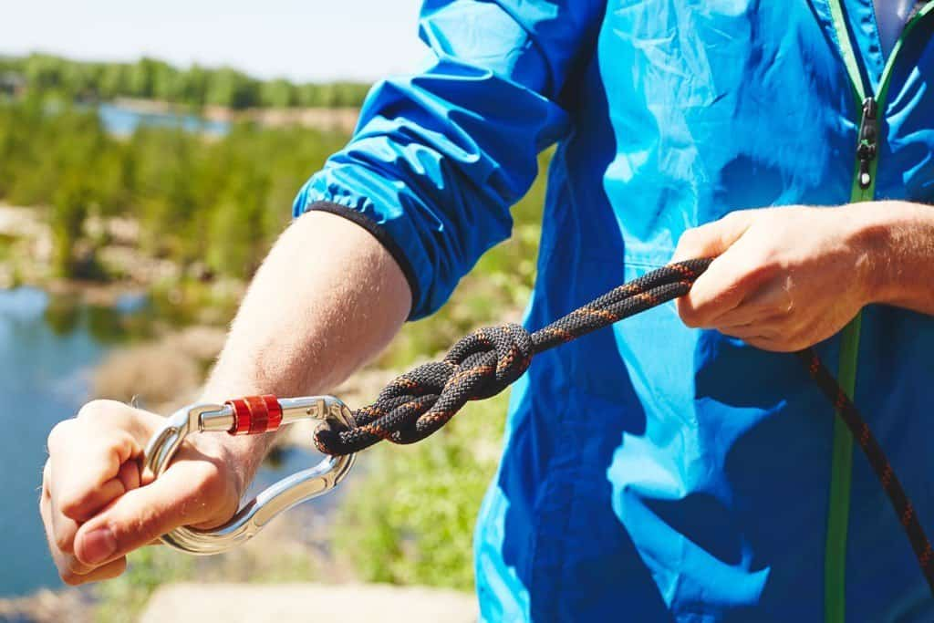 Dynamic rope for rappelling