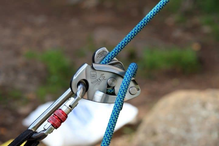 Rappel with GriGri Belay device