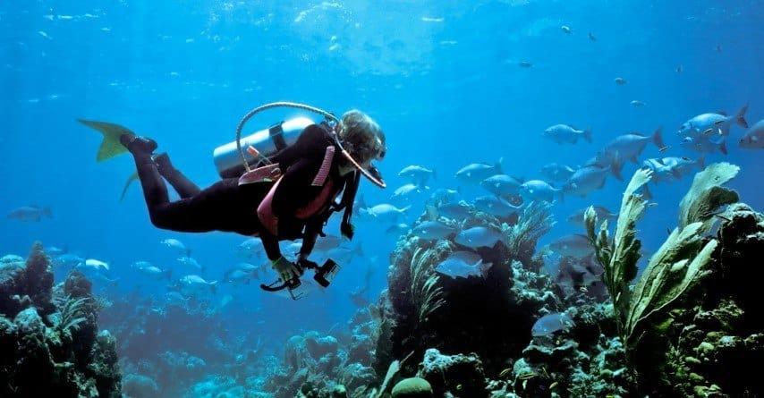 Scuba diving alone